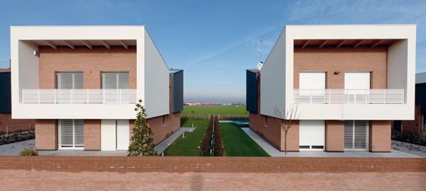 Case ecologiche, San Giovanni in Persiceto.Ecological homes, San Giovanni in Persiceto.