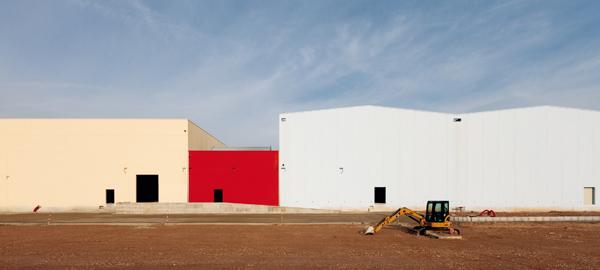 Edifici logistici in costruzione, Interporto, Castagnolo Minore, Bentivoglio.Logistical warehouses under construction, Castagnolo Minore, Bentivoglio.